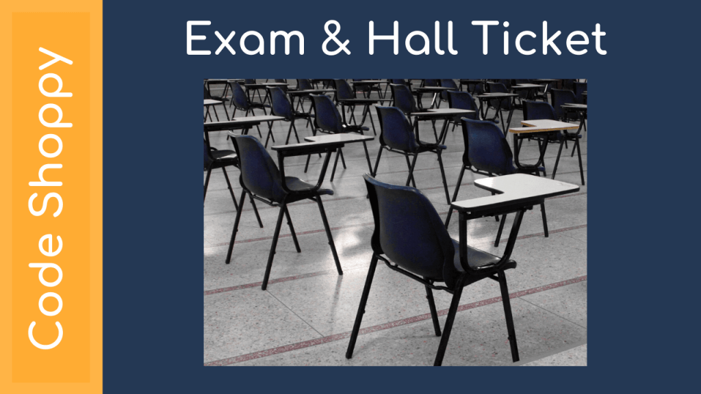 Exam Hall Ticket Management System